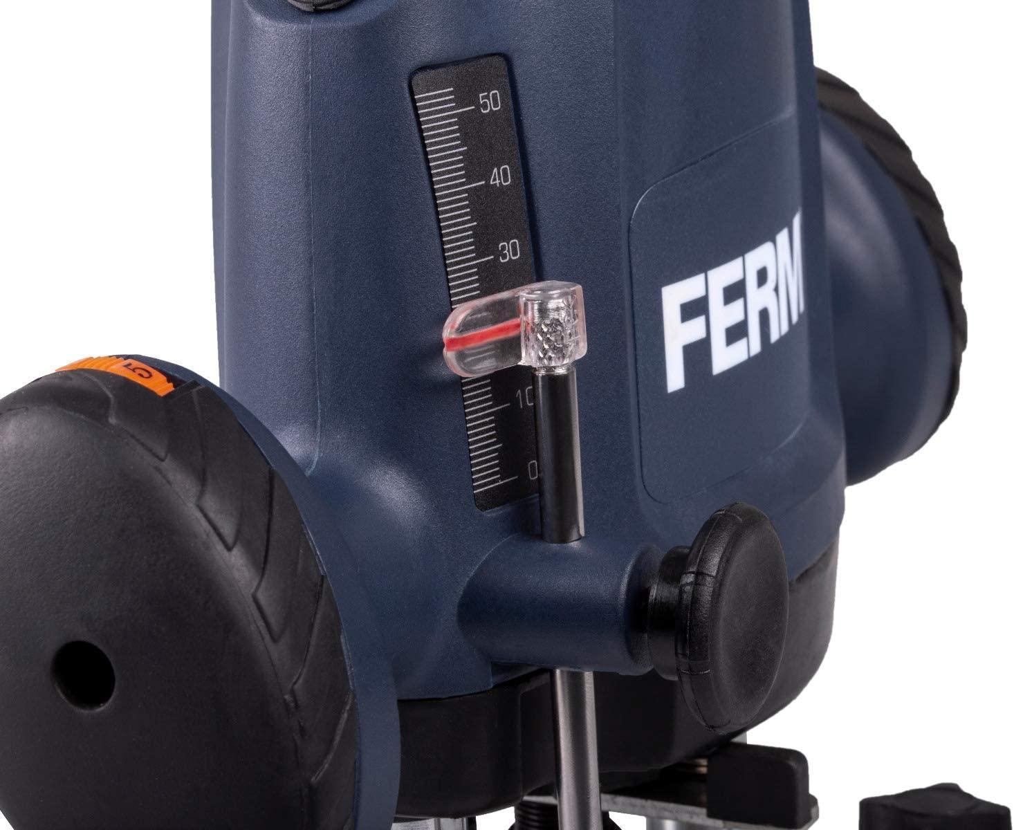 reglage milimètrique défonceuse FERM 1200W